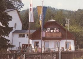 Die neue Edelweisshuette fertiggestellt im Jahr 1970