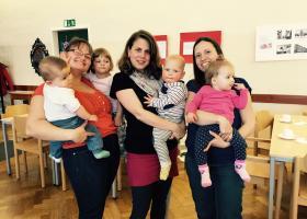 2014 bis 2015, Team Baby Mama Treffen. von links nach rechts: Sabine Klein, Barbara Hager, Christina Jestl