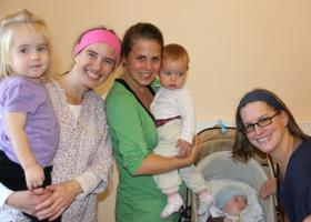 2012 bis 2013, Team Baby Mama Treffen. Von links nach rechts: Dagmar Steininger-Toifl , Barbara Hager und Elisabeth Lerch-Muß