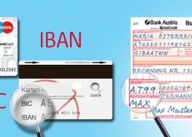 Iban Auf Karte.Ab Sofort Bei überweisungen Iban Und Bic Anstatt Kontonummer Und