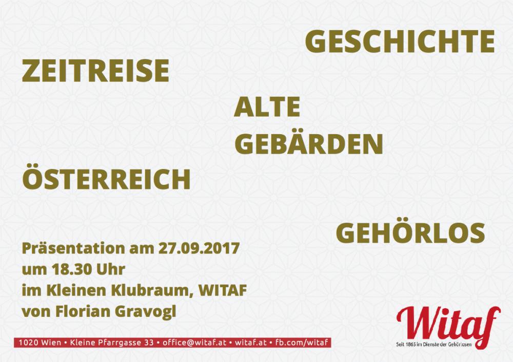 Projektpräsentation - Zeitreise, Alte Gebärden, usw | WITAF - Seit ...