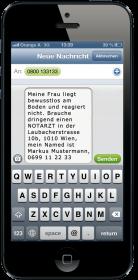 iPhone mit Gehörlosen Notruf SMS Text